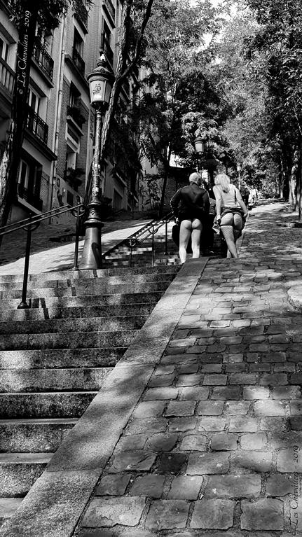 Escaliers de Montmartre  Photos Érotiques  by Les Chevaliers
